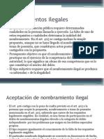 Nombramientos Ilegales y Prevaricación Judicial