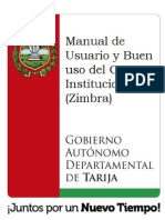 Manual de Usuario y buen uso de correo con Zimbra