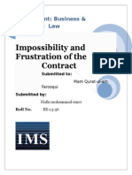 Impossibility and Frustration of the Contract