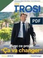 Programme de Christian Estrosi (LR) pour les Régionales en Paca