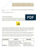 JavaScript en CMS's Joomla, Wordpress, Drupal, Prestashop... Módulos, templates o themes