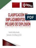 Clasificacion de Emplazmietos Con Peligro de Explosion