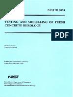 Testing & Modeling of Fresh Conc.