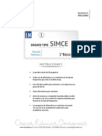 Ensayo1 Simce Matematica 1basico 2015 Forma b