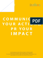 Communicate Your Actions PR Your Impact