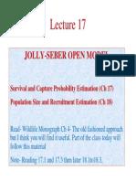 Jolly Seber Model