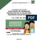 Plan de Trabajo de Promoción de La Salud en El Programa Salud Escolar (1)