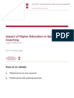 Impact of Higher Education in Sports Coaching_Presentation