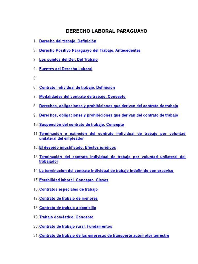 Derecho Laboral Paraguayo (2)