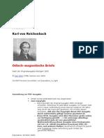 Reichenbach,Karl Freiherr Von - Od-Magnetische Briefe