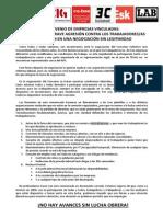 Borrador Comunicado Negociación Convenio 2015-3-1