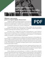 Direito de Família - Filiação, Colocação Em Família Substituta e Poder Familiar