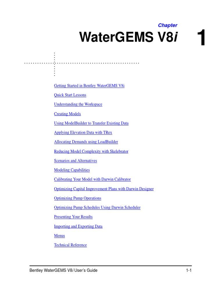 WaterGEMS V8i User's Guide | Arc Gis | Computer File