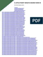 Arsip Sitemap XML Situs Paket Wisata Murah Web Id