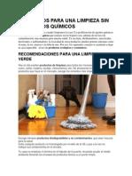 7 Consejos Para Una Limpieza Sin Productos Quí..