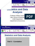 Statistics  Covariance&Correlation