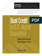 Higher Learning Commission Dual Credit in U.S. Higher Education