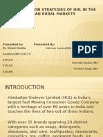 Advertising Scheme of Hul in rural market