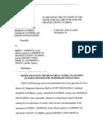 SeaWorld Brancheau Injunction