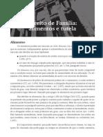 Direito de Família - Alimentos e Tutela