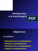 Introduccion a la Sociolinguistica