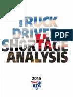 ATAs Driver Shortage Report 2015