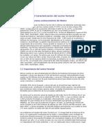 2 Caracterización Del Sector Forestal