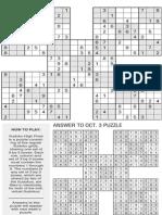 Printable Sudoku High-Five, Oct. 10