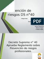 presentación Decreto Supremo n°40
