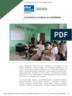 Sistema Penitenciario Involucra a Reclusos en Actividades Educativas