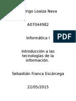 Introduccion a Las Tecnologias de La Informacion