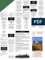 October 11, 2015 Worship Folder