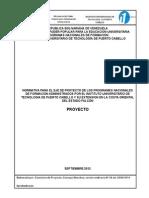 Normas Generales Del Unidad Curricular Proyecto.doc2012 Final