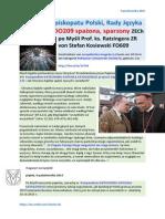 Po olej do Episkopatu Polski Rady Jezyka Polskiego PDO209 spazona sparzony ZECh po Mysli Prof. ks. Ratzingera ZR von Stefan Kosiewski FO609
