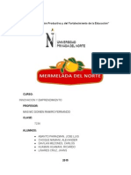 Informe Final Mermelada de yacon