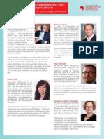 #infopro15 - Sprecher, Thesen und deren Kurzvita