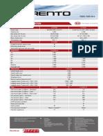 Kia UM Sorento Specifications (June 2015)