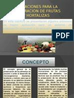 Operacion Para Frutas y Hortalizas