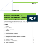 REG15_505 General Regulations for Foundation Degree Programmes 201516