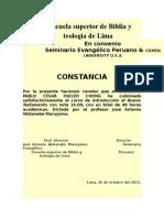 Εscuela Superior de Biblia y Teología de Lima