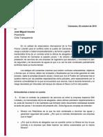 Carta Fundacion Danielle Mitterand a Chile Transparente