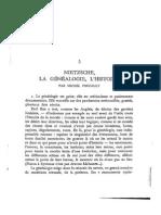 Nietzsche, la Genealogie, l'histoire