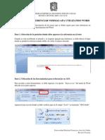 Gu a Para Referenciar Normas APA Utilizando Word Distrital