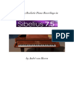 Creating Realistic Piano bounces in Sibelius 7.5