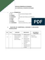 SESIÓN DE APRENDIZAJE INTEGRADA.doc