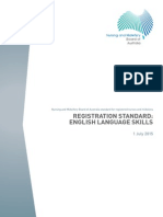 Nursing and Midwifery Board Registration Standard English Language Skills 1 July 2015