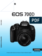EOS 700D Instruction Manual ES