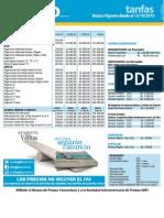 Tarifas Vigentes 13-10-2015 Impreso
