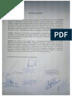 Acta de Acuerdo entre Colquiri y Caracollo para tratar el tema de límites