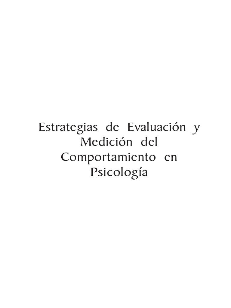Estrategias de Evaluacion y Medicion Del Comportamiento-En ...
